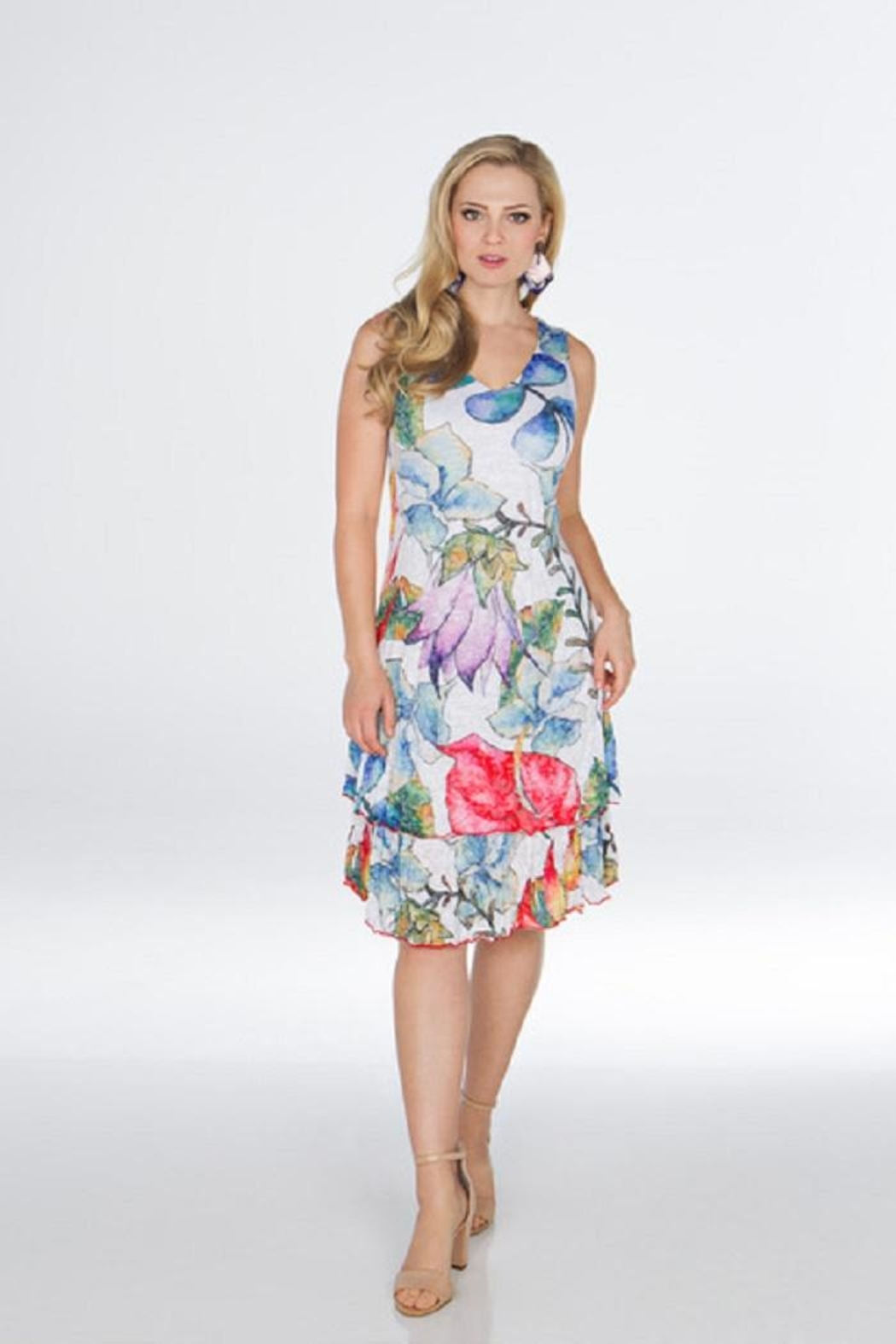 Carine Floral Travel Dress - Main Image