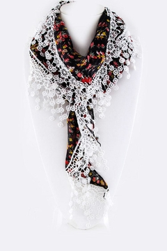 Shoptiques Product: Floral Triangle Scarf