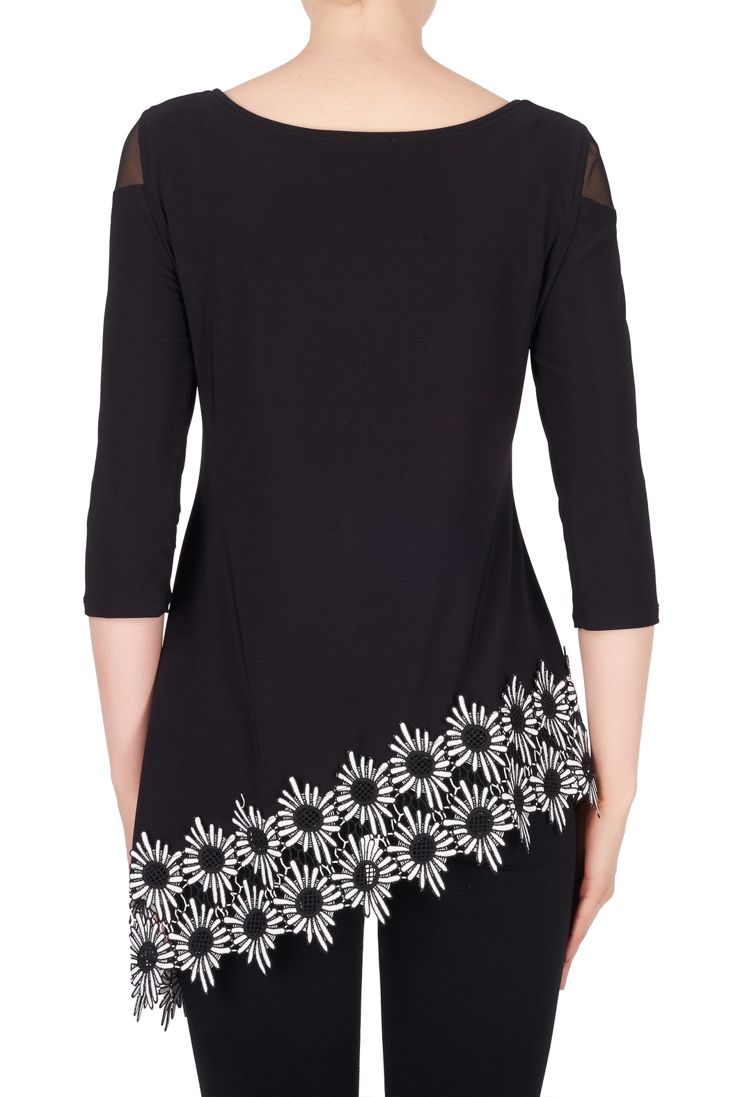Joseph Ribkoff Floral Trimmed Tunic - Side Cropped Image