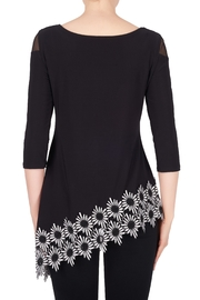 Joseph Ribkoff Floral Trimmed Tunic - Side cropped
