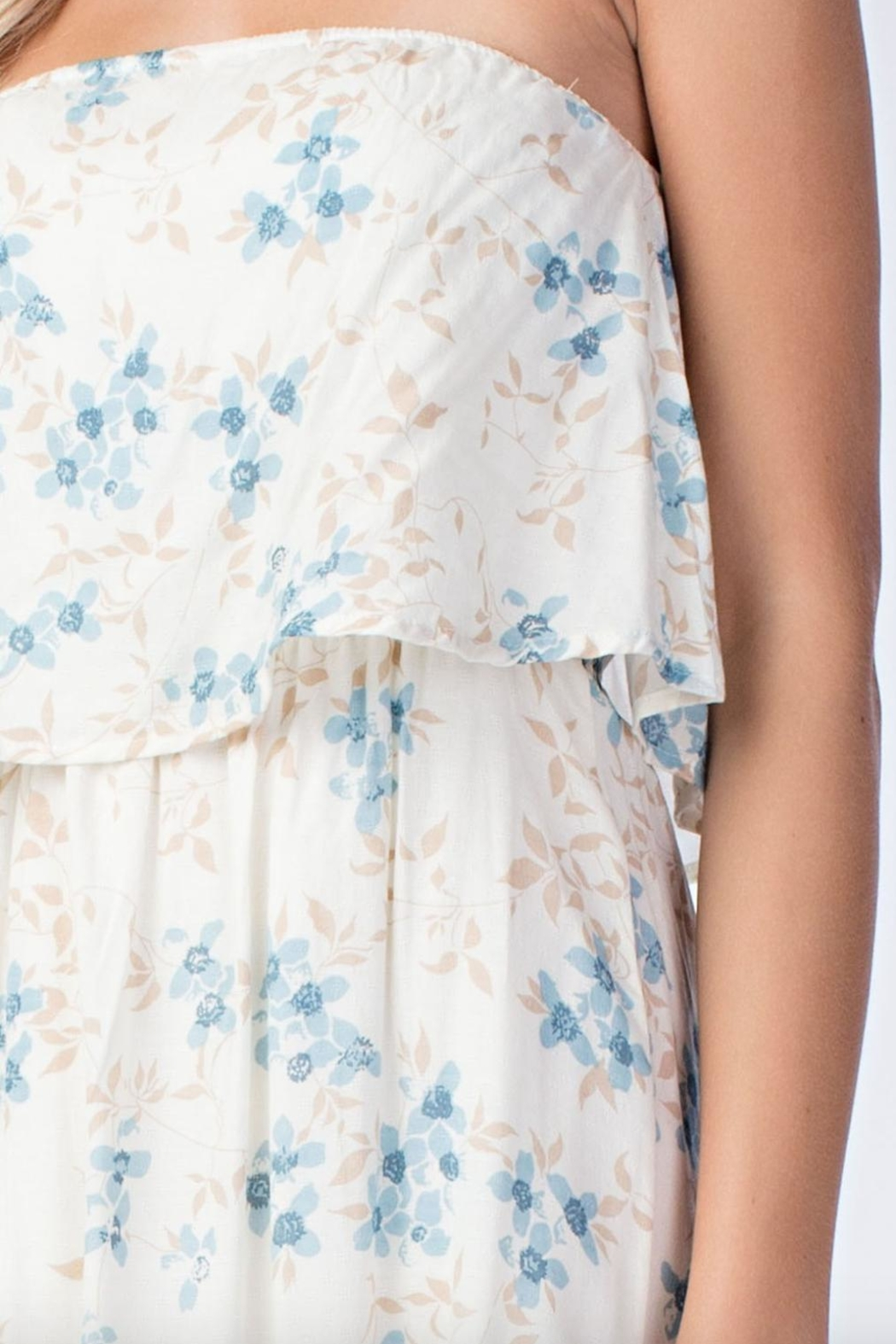 Honey Punch Floral Tube-Top Maxi-Dress - Front Full Image