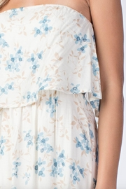 Honey Punch Floral Tube-Top Maxi-Dress - Front full body