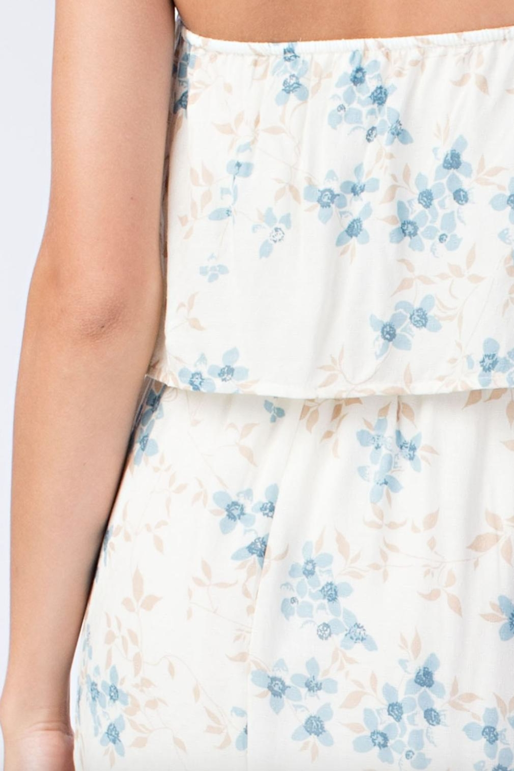 Honey Punch Floral Tube-Top Maxi-Dress - Back Cropped Image