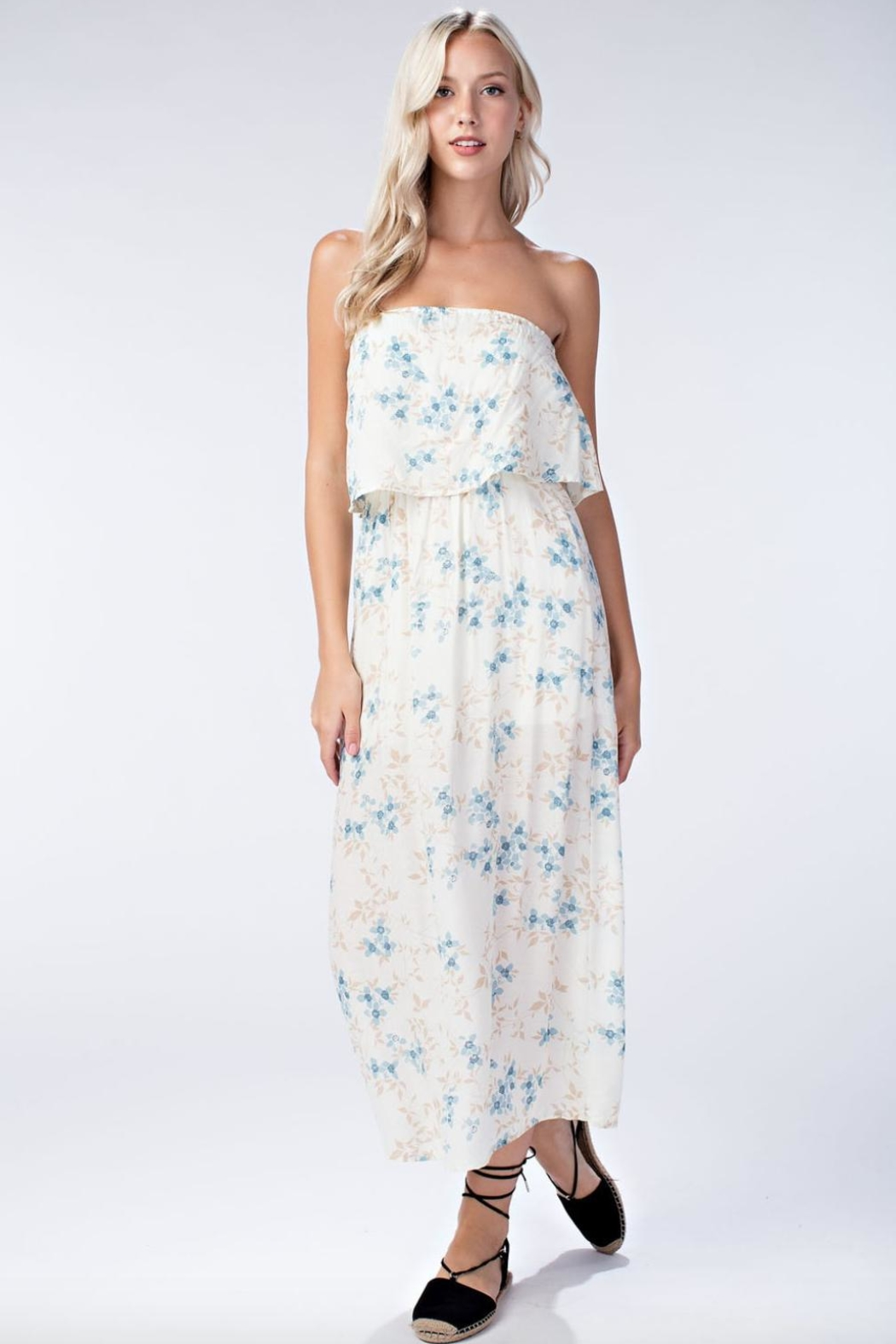 455513c612 Honey Punch Floral Tube-Top Maxi-Dress from Florida by Apricot Lane ...