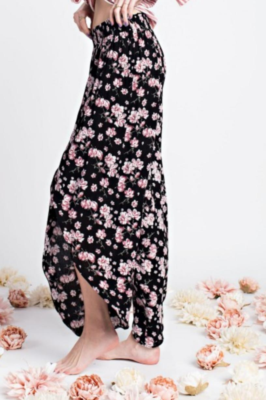 easel Floral Tulip Pant - Side Cropped Image