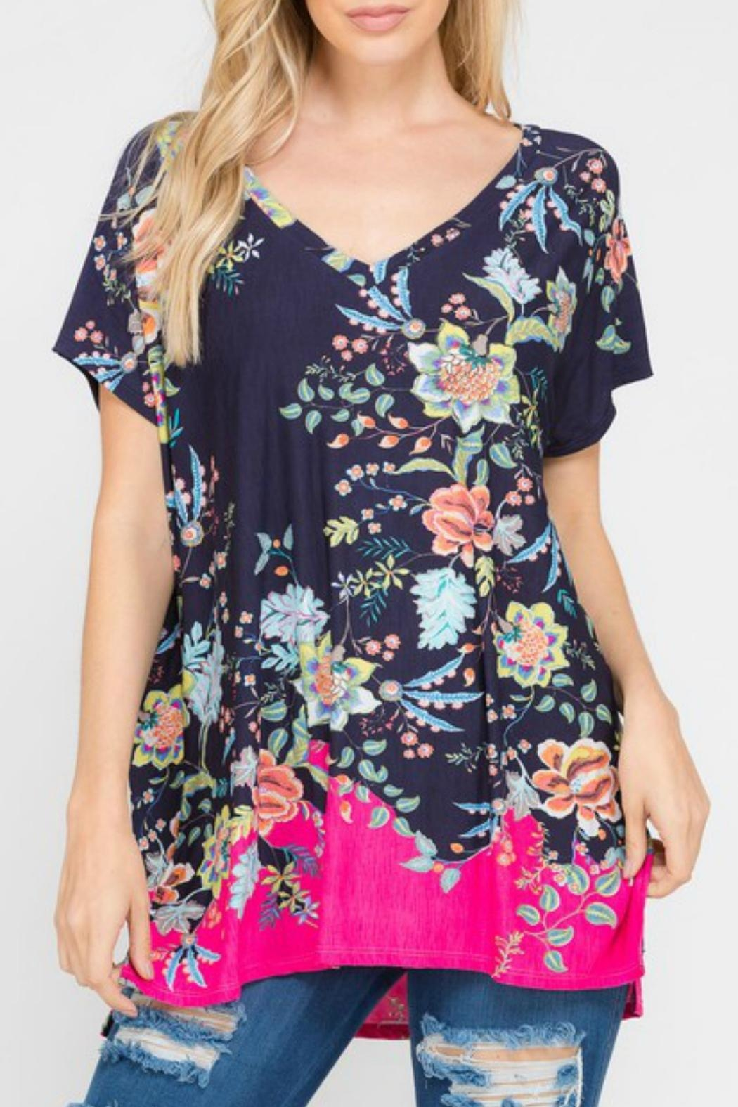 Modern Emporium Floral Tunic - Side Cropped Image