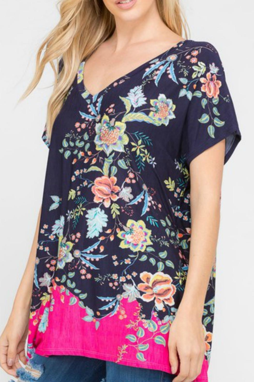 Modern Emporium Floral Tunic - Front Cropped Image