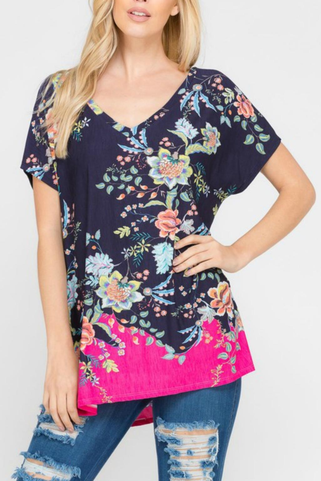 Modern Emporium Floral Tunic - Front Full Image