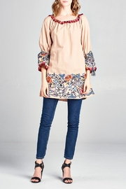 Velzera Floral Tunic Dress - Product Mini Image