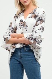 Blu Pepper Floral Tunic Top - Product Mini Image