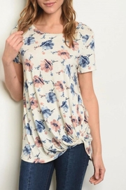 Glam Floral Twist Top - Product Mini Image