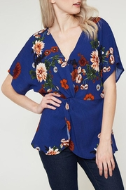 Vine & Love Floral Twist Top - Product Mini Image