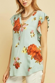Entro Floral V-Neck Top - Product Mini Image