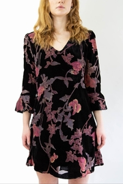 Mystree Floral Velvet Dress - Product Mini Image