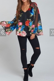 Show Me Your Mumu Floral Velvet Top - Product Mini Image
