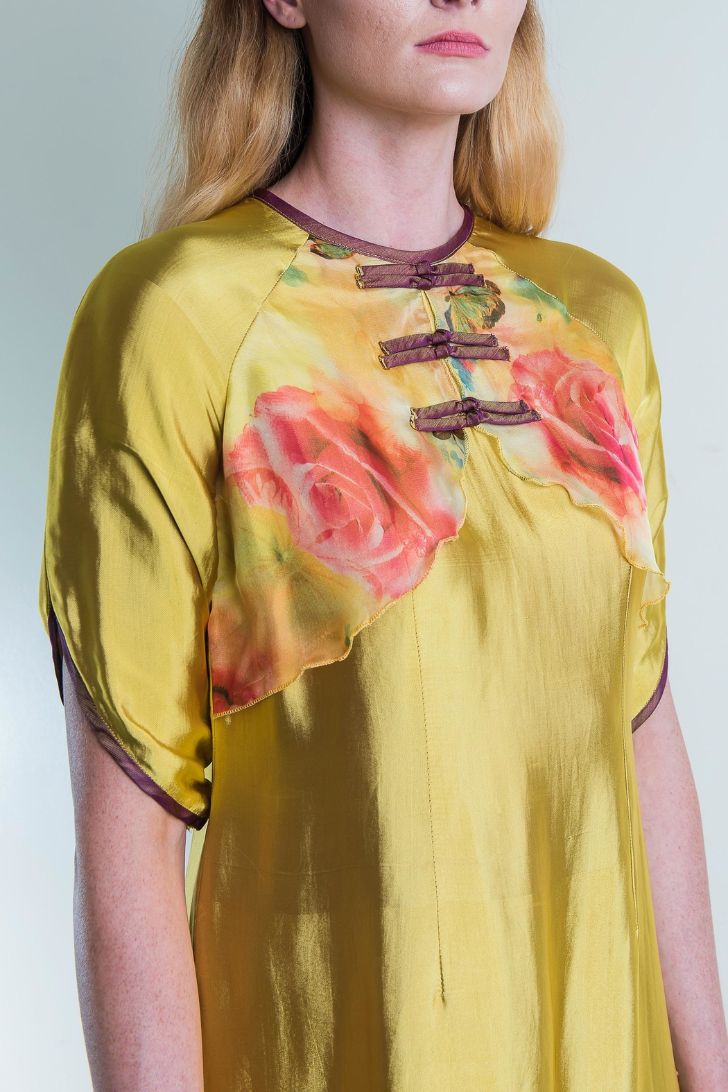 Dawn Sunflower Floral Vest Dress - Front Full Image
