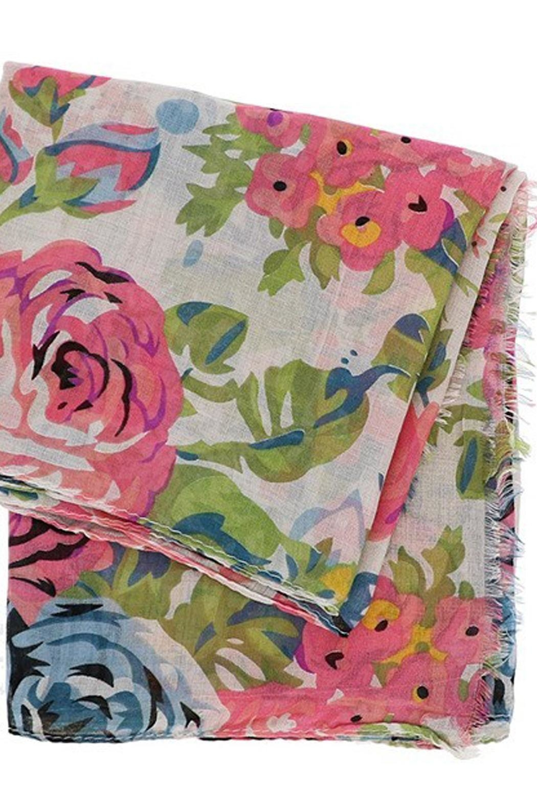 Look Floral Vicose Scarf - Front Full Image