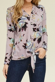 Staccato Floral Waffle Top - Product Mini Image