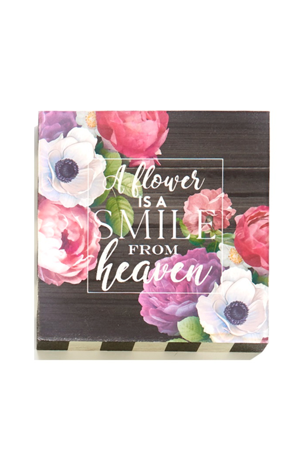 Giftcraft Inc.  Floral Wall/Desk Blocks - Front Cropped Image
