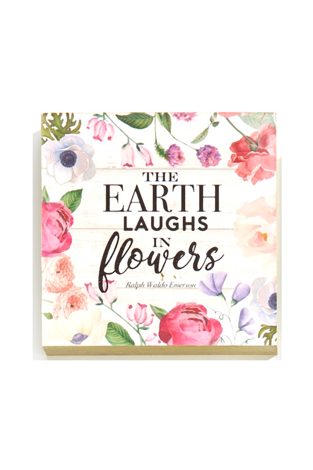Giftcraft Inc.  Floral Wall/Desk Blocks - Front Full Image