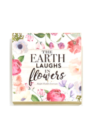 Giftcraft Inc.  Floral Wall/Desk Blocks - Front full body