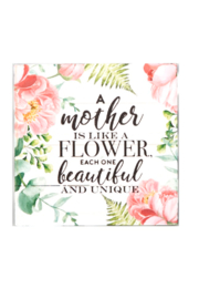 Giftcraft Inc.  Floral Wall/Desk Blocks - Front cropped