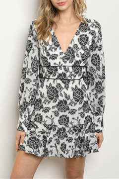 Do + Be  Floral White Black Dress - Product List Image