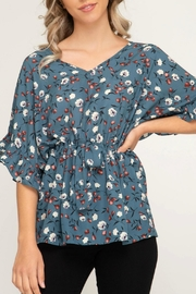She + Sky Floral Woven Dress-Shirt - Product Mini Image