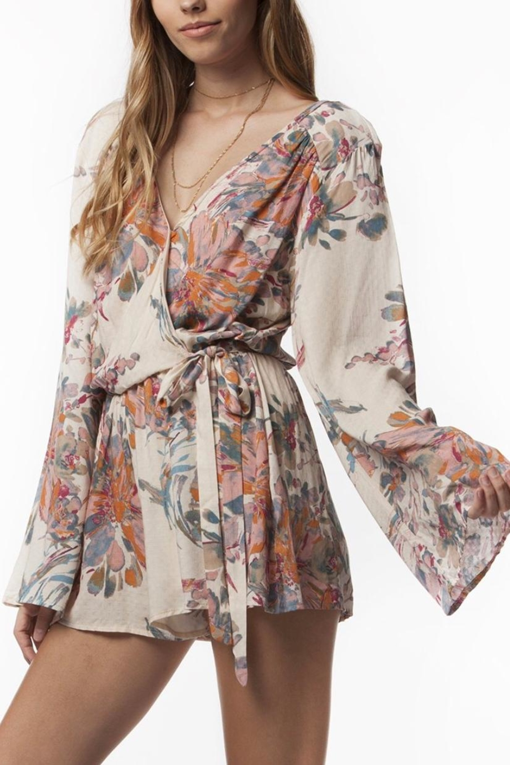 PPLA Floral Woven Romper - Main Image