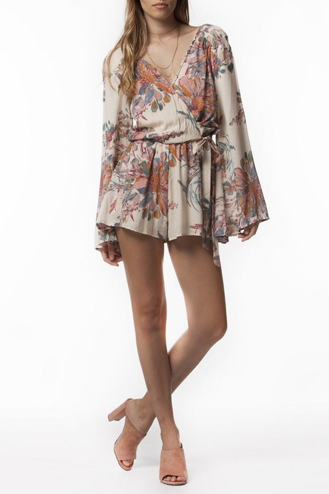 PPLA Floral Woven Romper - Side Cropped Image