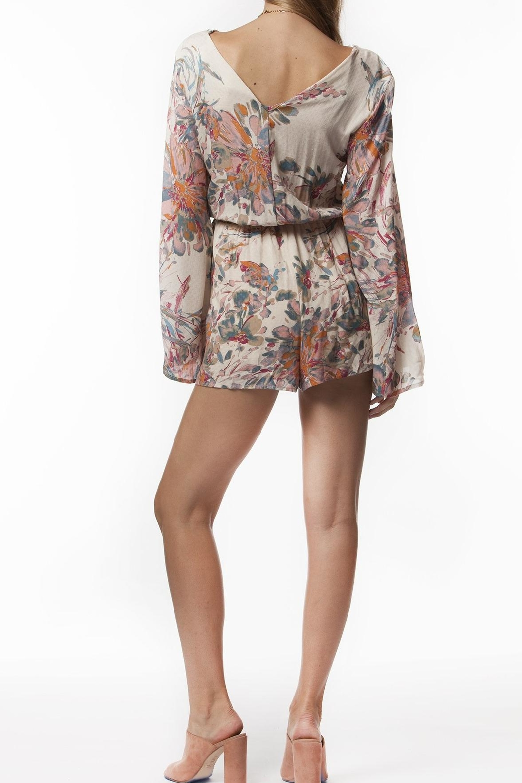 PPLA Floral Woven Romper - Back Cropped Image
