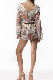PPLA Floral Woven Romper - Back cropped