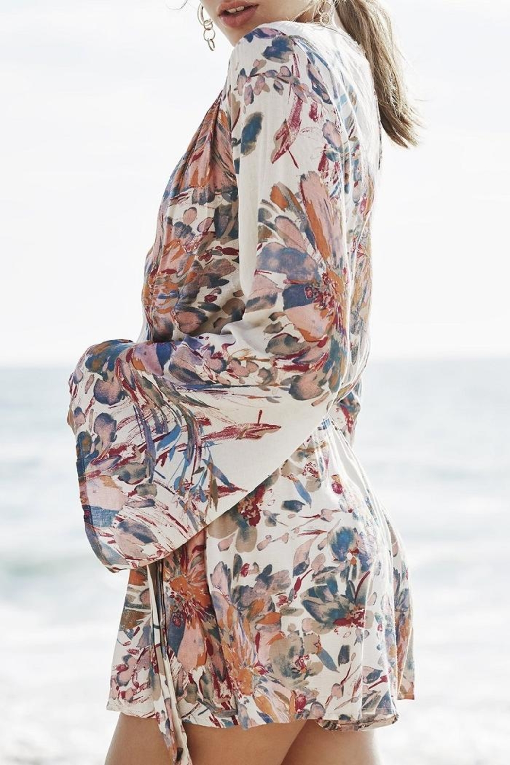 PPLA Floral Woven Romper - Front Full Image