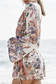 PPLA Floral Woven Romper - Front full body