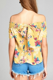 Active Basic Floral Woven Top - Front full body