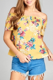 Active Basic Floral Woven Top - Front cropped