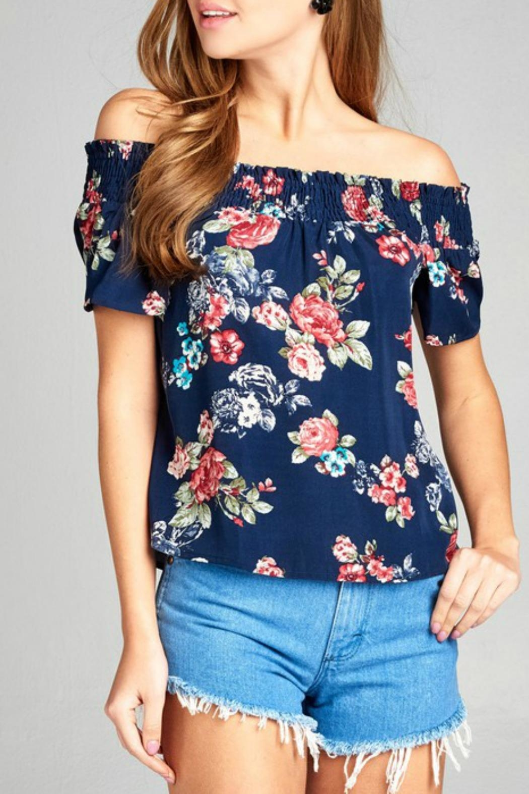 Active Basic floral woven top - Main Image