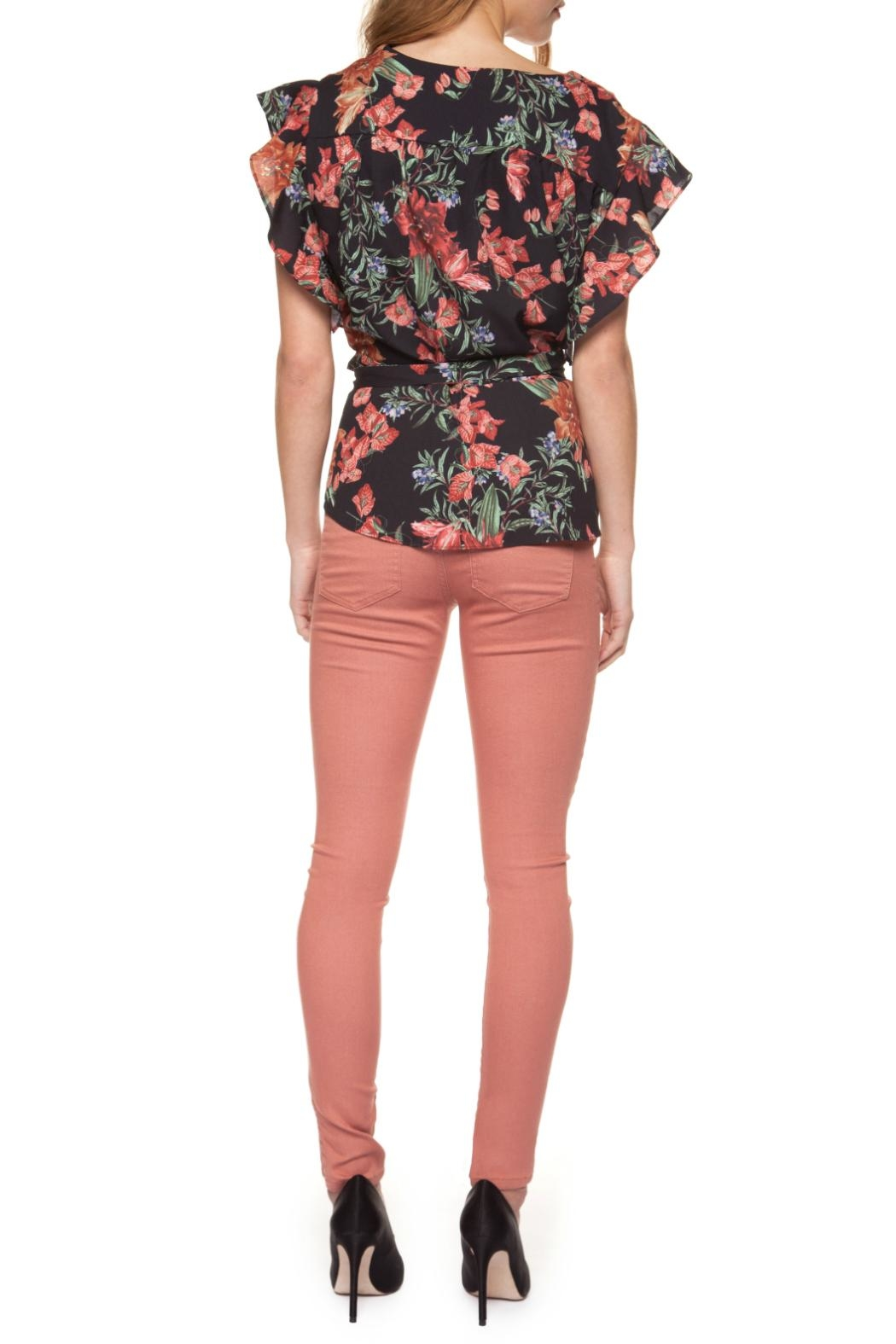Dex Floral Wrap Blouse - Front Full Image