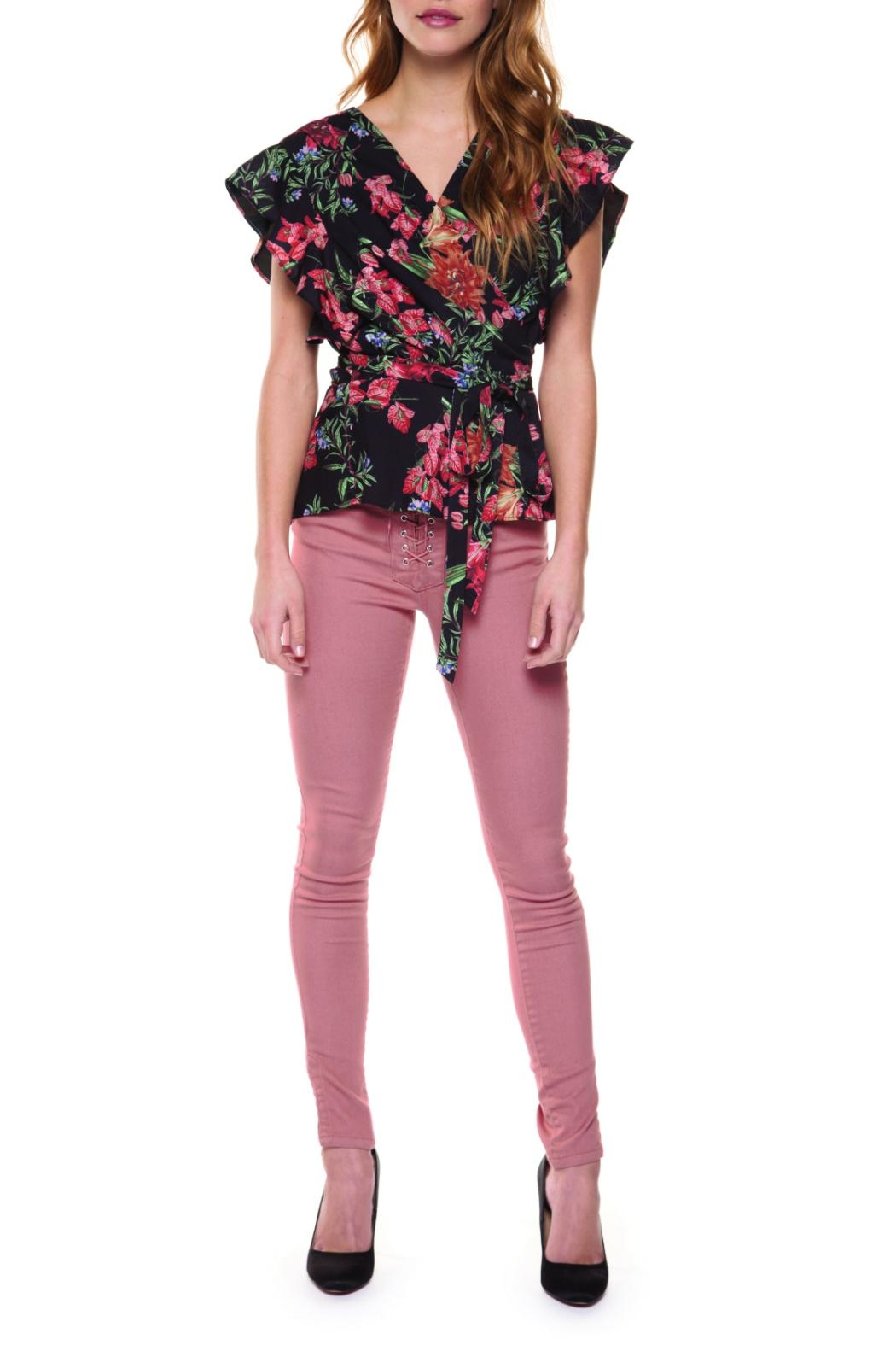 Dex Floral Wrap Blouse - Main Image