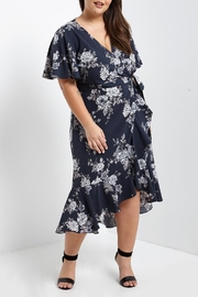 Soprano Floral Wrap Dress - Product Mini Image