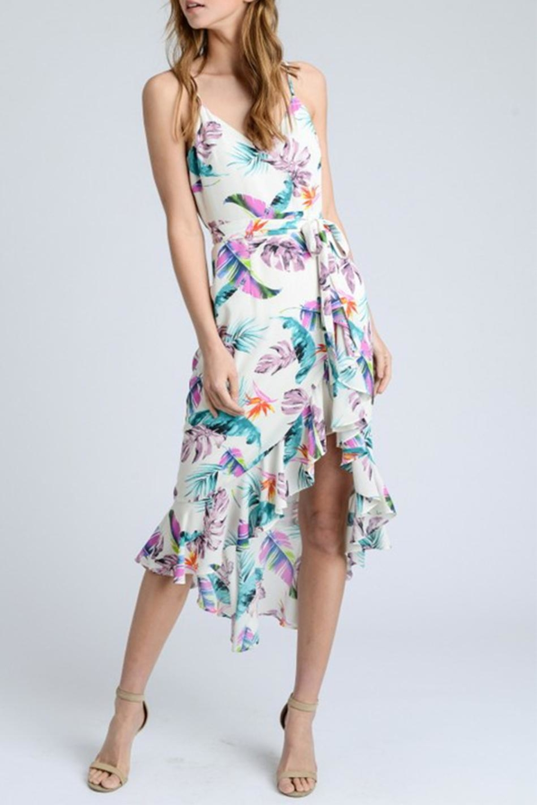 storia Floral Wrap Dress - Side Cropped Image