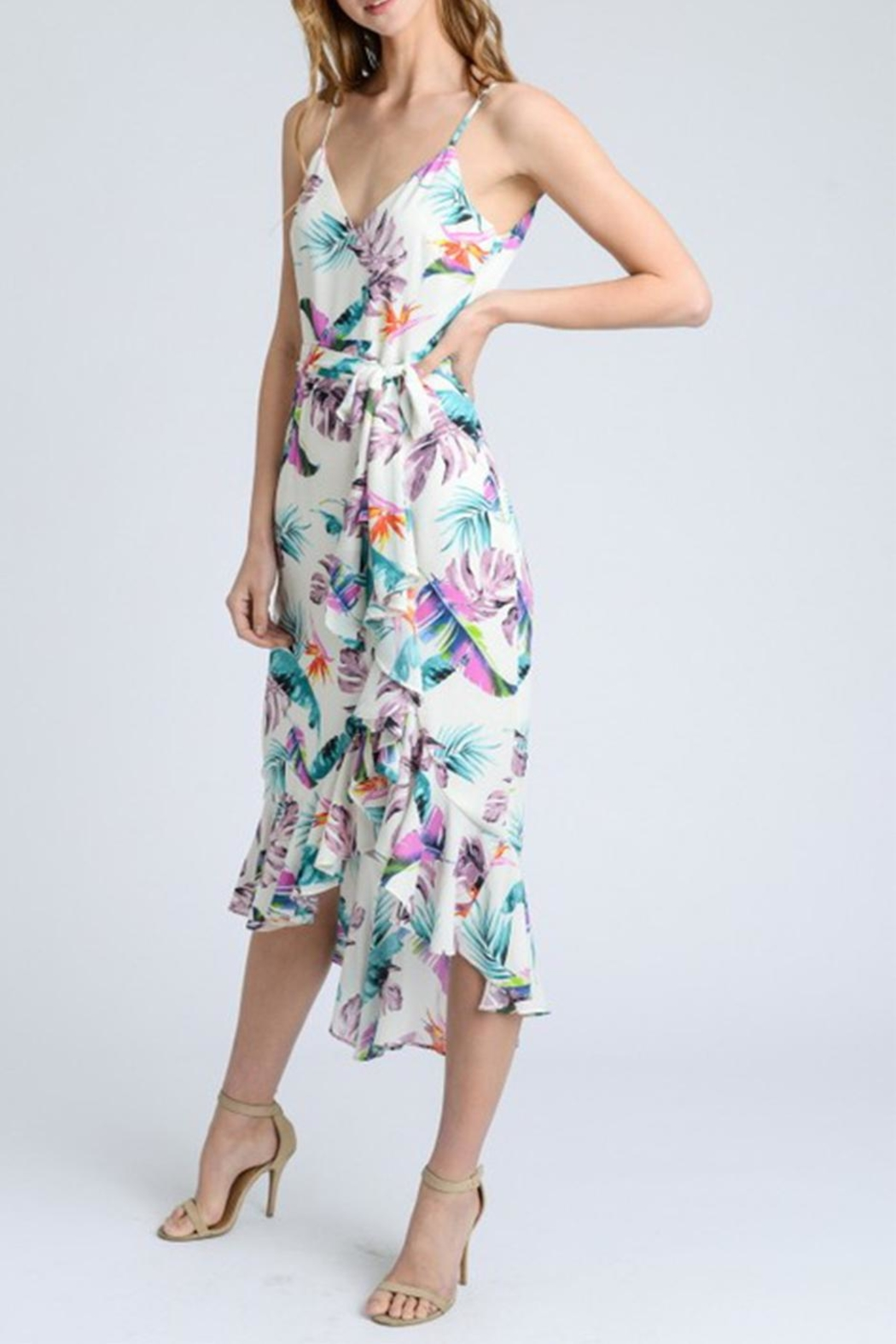 storia Floral Wrap Dress - Front Full Image