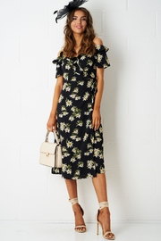 frontrow Floral Wrap Dress - Front cropped