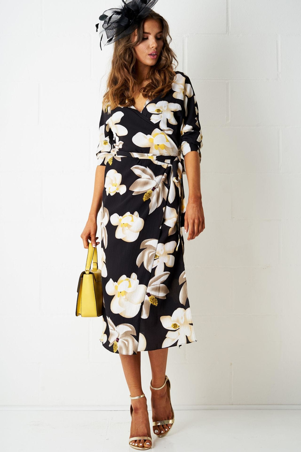 frontrow Floral Wrap Dress - Main Image