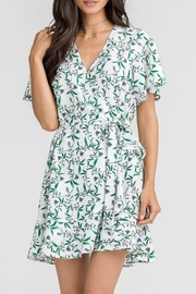 Lush Floral Wrap Dress - Front full body