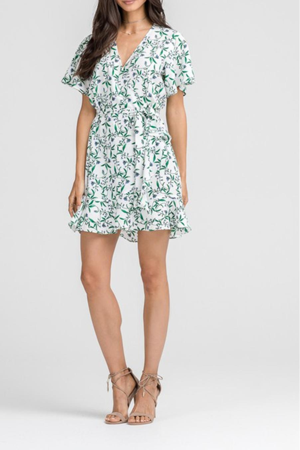 Lush Floral Wrap Dress - Side Cropped Image