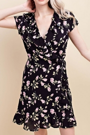 Wild Honey Floral Wrap Dress - Product Mini Image