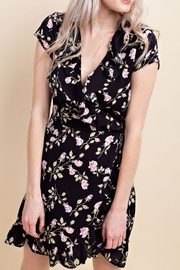 Wild Honey Floral Wrap Dress - Front full body