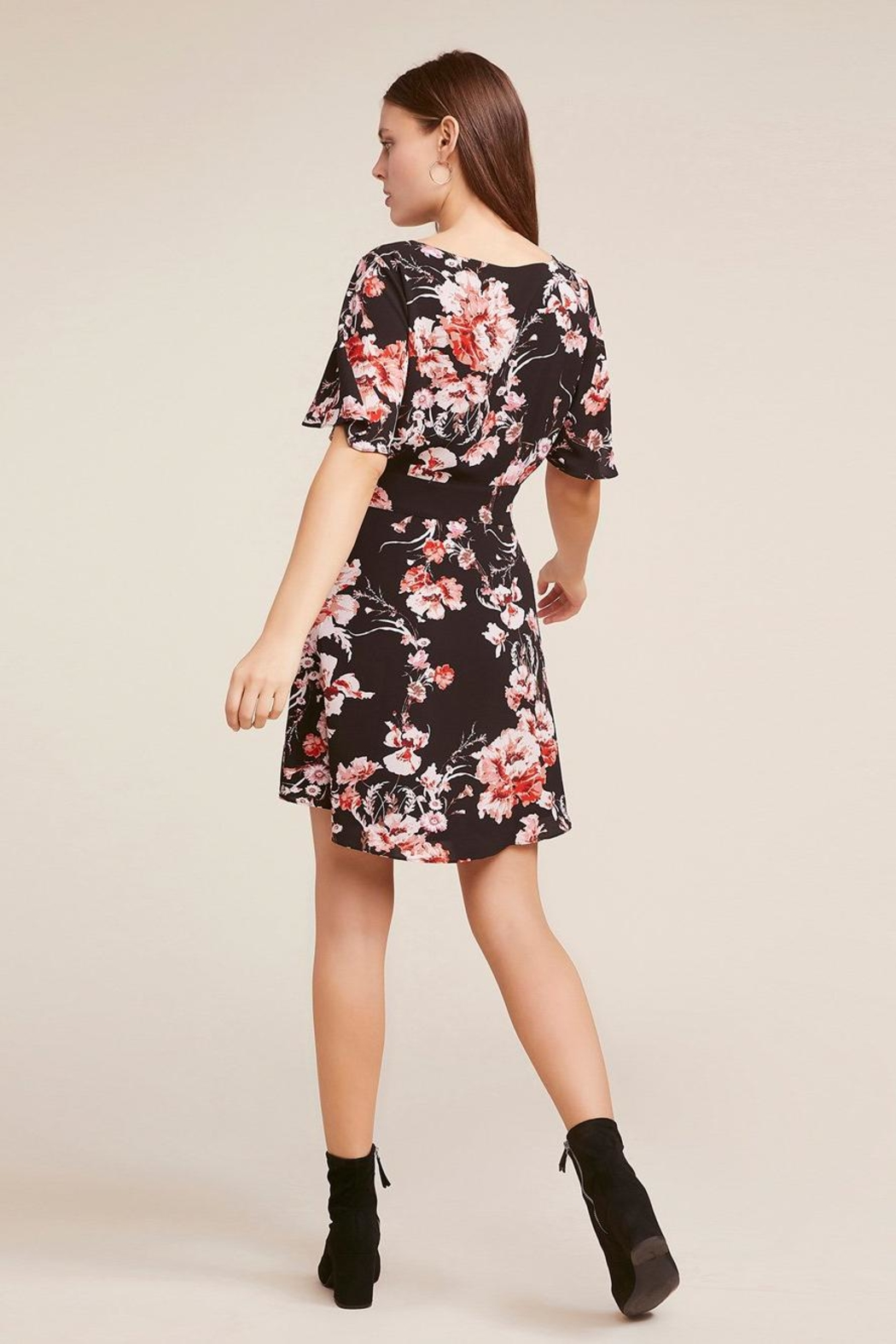 BB Dakota Floral Wrap Dress - Side Cropped Image