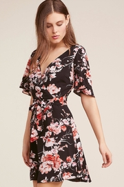 BB Dakota Floral Wrap Dress - Front full body